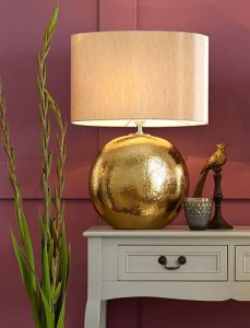 Bronze Textured Ceramic Table Lamp