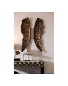 Bronze Large Angel Wings Wall Art