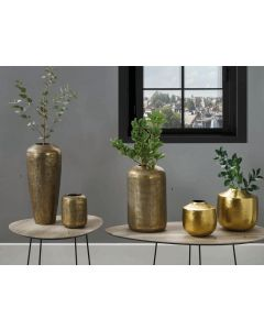 Brass Metal Hammered Vase