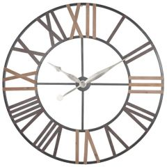 Bree Wood and Metal Wall Clock