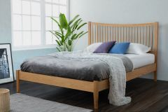 Brendan King Size Solid Oak Bed Frame