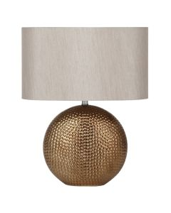Bronze Ceramic Table Lamp with Shade