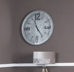 Caitlin Antique Silver Wall Clock