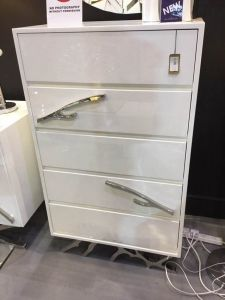 California White 5 Drawer Tallboy
