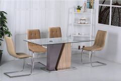 Calypso High Gloss Dining Set