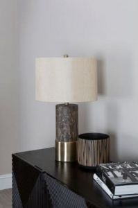 Carin Brown Iron Table Lamp