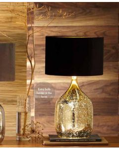 Champagne Gold Mercurial Glass Dual Light Table lamp
