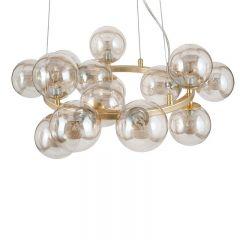 Champagne Metal Lustre Glass Ball Pendant