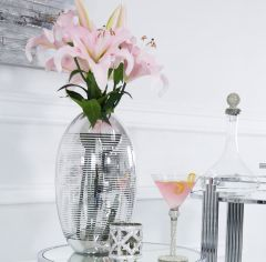 Chic Silver Glass Vase