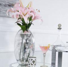 Chic Silver Glass Vase