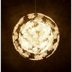 Chrome Floral Retro Ceiling Light