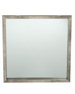 Concrete Effect Square Mirror