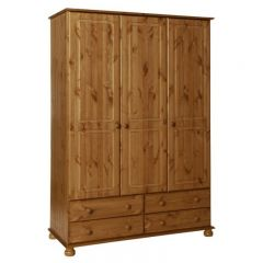 Copenhagen 3 Door 4 Drawer Wardrobe