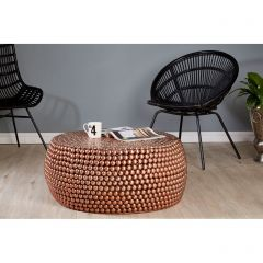 Copper Beaded Round Templar Coffee Table