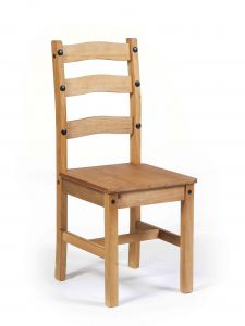 Corona Solid Chair - Pine