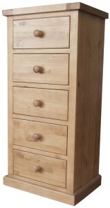 Cottage Pine 5 Drawer Wellington