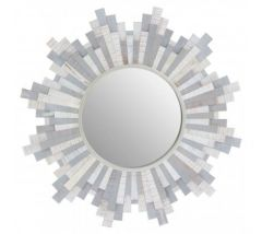 Crescencia Grey and White Wall Mirror