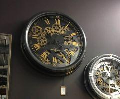 Dark Grey & Gold Chambers Wall Clock