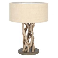 Driftwood Jute Table Lamp