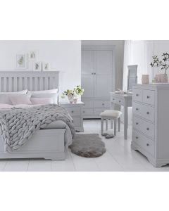 Edelmar Pine Grey Bed Frame