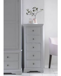 Edelmar Pine Grey 5 Drawer Narrow Chest