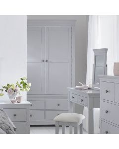 Edelmar Pine Grey 2 Door 4 Drawer Wardrobe