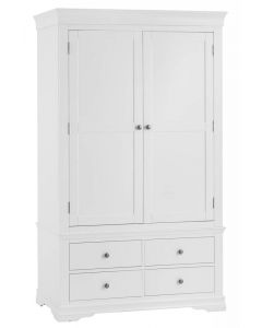 Edwina Pine White 2 Door 4 Drawer Wardrobe