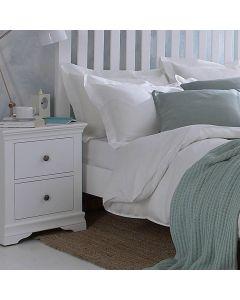 Edwina Pine White Bedside Cabinet