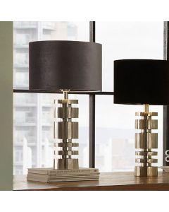 Elon Silver Metal Stacked Cylinder Table Lamp - Base Only
