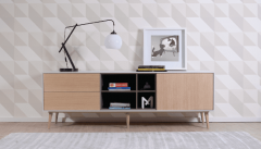 Enkel Oak TV Unit