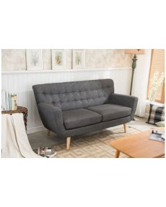 Fabric Scandinavian Style 3 Seater Sofa Grey