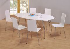 Fiji High Gloss Oval Dining Set