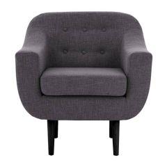 Funen Grey Fabric Chair