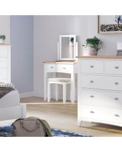 Gaetan Oak 2 Drawer Dressing Table
