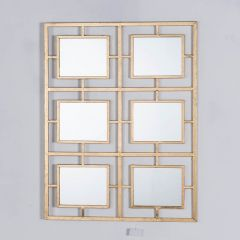 Gin Shu Gold 6 Mirror Metal Wall Mirror