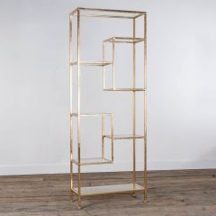 Gin Shu Gold 7 Shelf Metal Display Unit