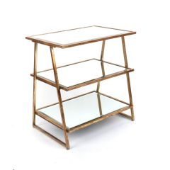 Gin Shu Gold Metal 3 Tier Shelving Unit
