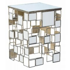 Gin Shu Parisienne Mirrored Metal Table