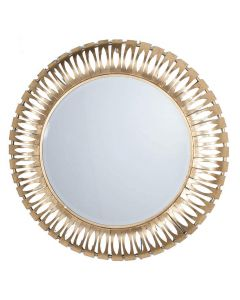 Gold Metal Round Wall Mirror