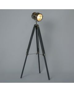 Grey Lighthouse Style Tripod Floor Lamp