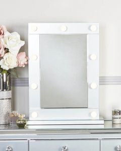 Grey Tinted Glass Broadway Light Up Mirror