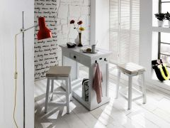 Halifax Kitchen Table Set With Stools