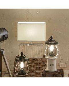 Hampton White Wash Wood Table Lamp
