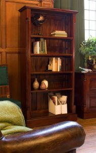 Hand Crafted Tall Open Bookcase