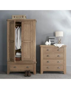 Hodson 2 Door 1 Drawer Wardrobe