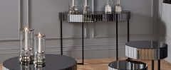 Hollywood Smoked Mirrored Console Table