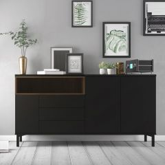 Homer 3 Door Sideboard - Black or White