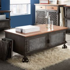 Industrial Eco Friendly Coffee Table on Wheels