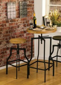 Industrial Foundry Ash Bar Stool