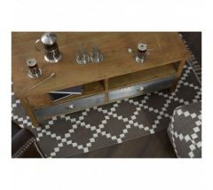 Industrial Natural Grain Aluminium Coffee Table